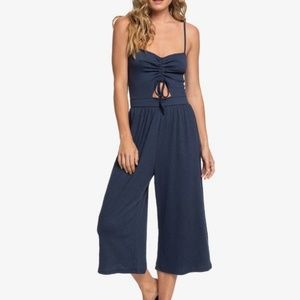 Roxy Where You Move Strappy Midi Jumpsuit Dress